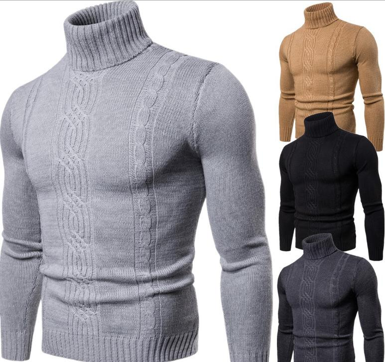 Mens outono e inverno Slim Fit pulôver Masculino coreano Vertical suéter listrado Natal Tops Pull