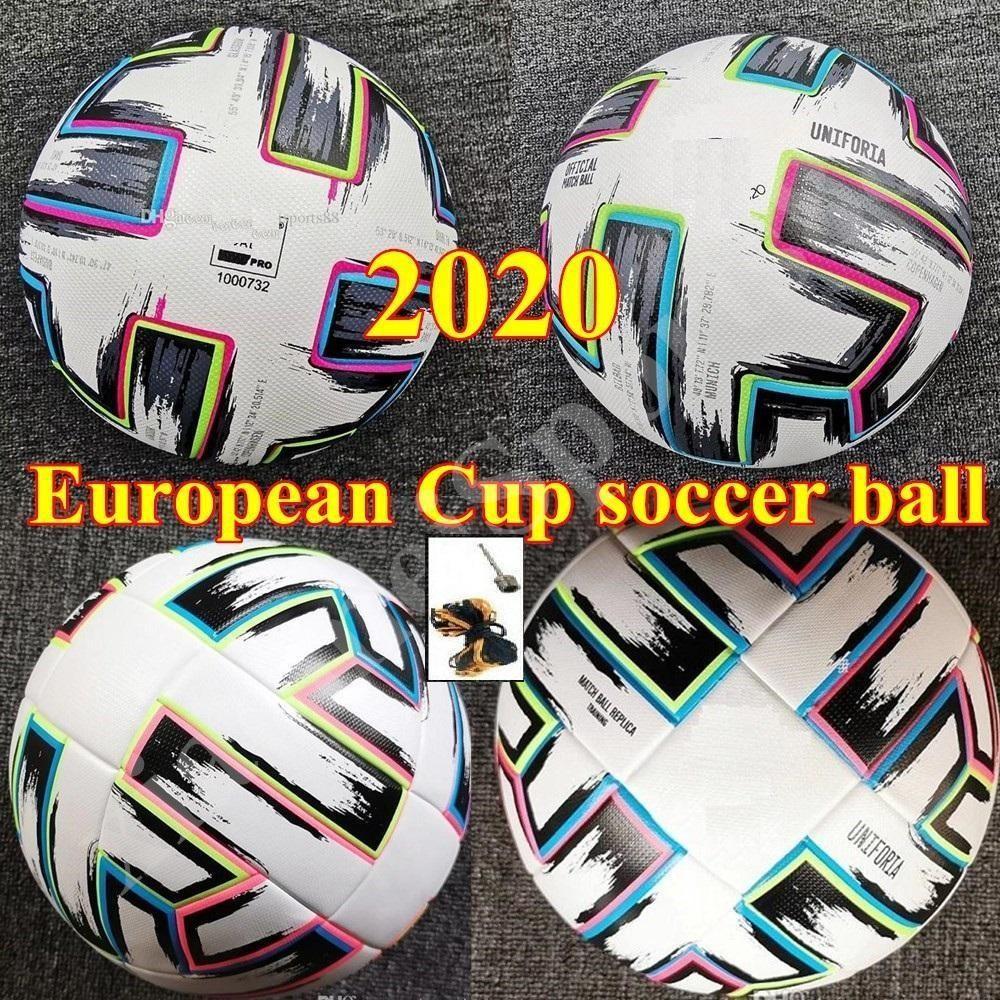 최고 품질의 유럽 컵 크기 : 4 축구 공 2021 최종 키예프 PU 크기 5 공과 과립 슬립 방지 축구 높은