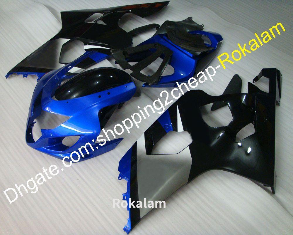 Синие черные обтекатели для Suzuki 2004 2005 GSXR 600 750 K4 GSXR600 GSXR750 04 05 GSX R600 R750 обтекатель для корпуса (литье под давлением)