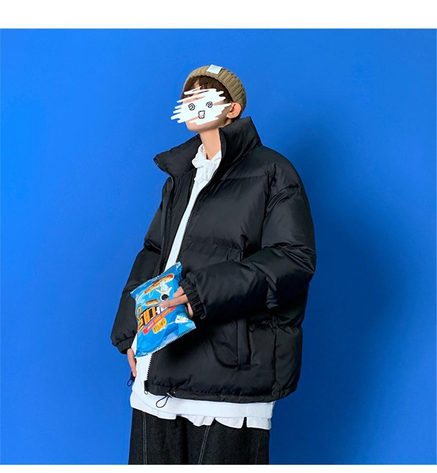IG QLI INSTAGRAM INVERNO PLUS PER UOMINI Giacca cotone-imbottita in cotone coreano coppia allentata Lettura giacca di cotone per le donne scoolay s-3xl # 258 # 827111