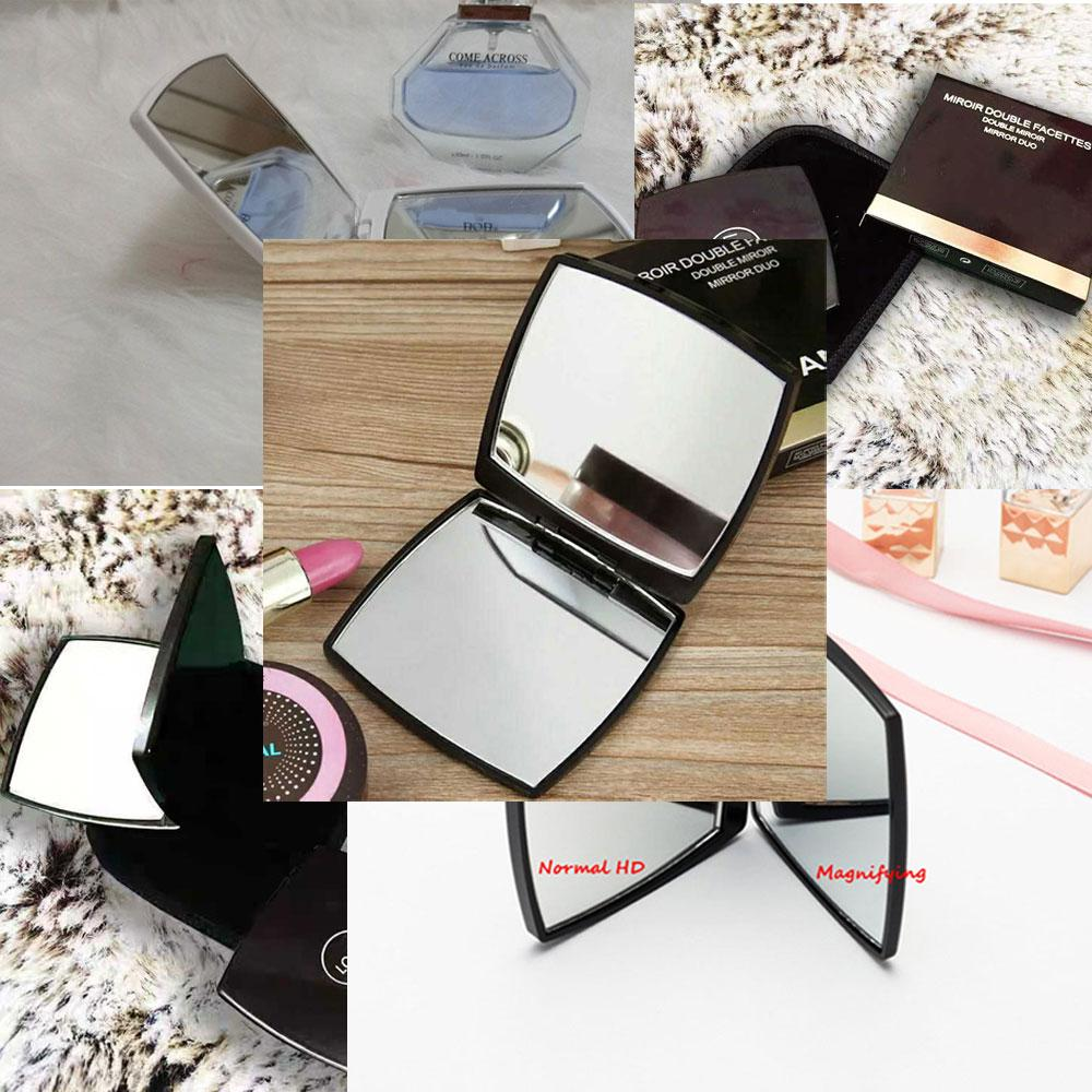 2019 Classic Folding Double Side Mirror Portable Hd Make-up Mirror And Magnifying Mirror With Flannelette Bag&Gift Box For VIP Client