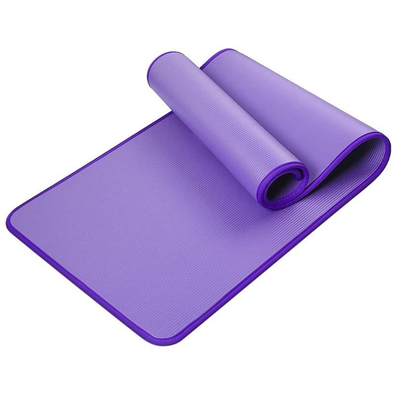 NBR YOGA MAT ÉDGIE DE MAT Épaississement antidérapant Fitness Absorbant Absorbant Tapis Absorbant Étanche Sports Formation Pilates Gymnastique