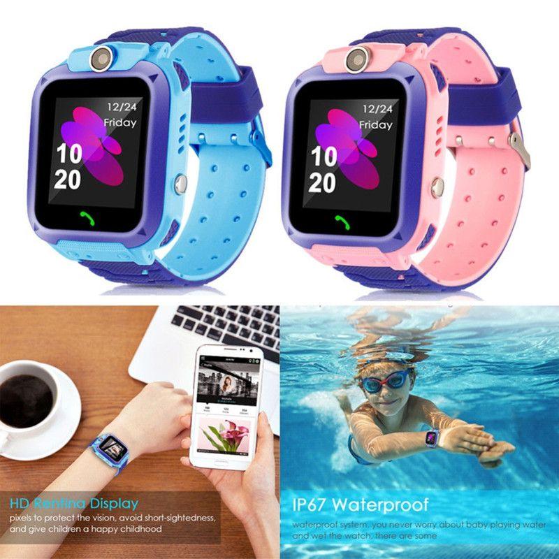 Q12 Kinder Smart Watch SOS Phone Watch Smartwatch Für Kinder mit SIM-Karte Foto Wasserdichte IP67 Kinder Geschenk für iOS Android Kostenloser DHL