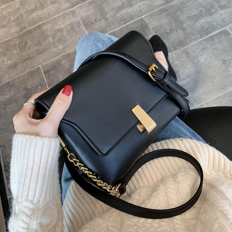 Blocco vintage crossbody 2020 quadrata da donna Nuovo sacchetto di PU di alta qualità Handbag Designer in pelle Borsa a tracolla in pelle TFAGC