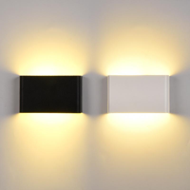 울트라 얇은 벽 램프 야외 LED 빛 방수 IP65 6W 10W COB AC85-265V LED 조명 홈 현대 야외 인테리어 장식 -I176