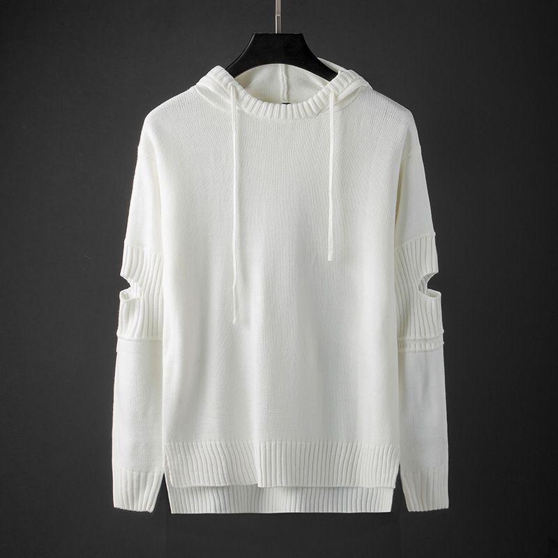 2020 мужская осень с капюшоном пуловер с капюшоном сплошной цветной уязвимостью молодости уязвимости прохладный свитер