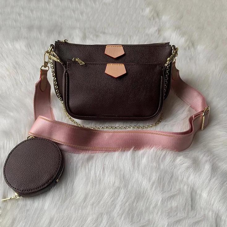 Körper Geldbörse Original Box Handtasche Code Pochette Datum Tasche Schulter Messenger Multi Kreuz Frauen Kupplungstasche LGPKL