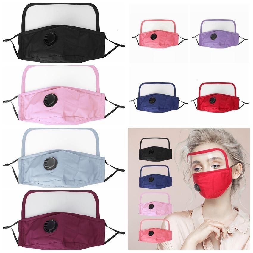 Algodón en lavable 1 Polvo a prueba de polvo 2 con máscara de válvula de ojo Escudo protector Ciclismo Reutilizable Máscaras faciales RRA3305