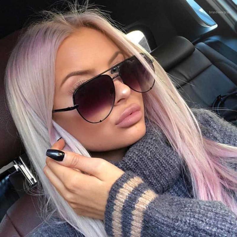 2020 neue mode marke designer damen pilot sonnenbrille frauen männer goggle gradient sonnenbrille für weibliche spiegel schattierungen uv4001