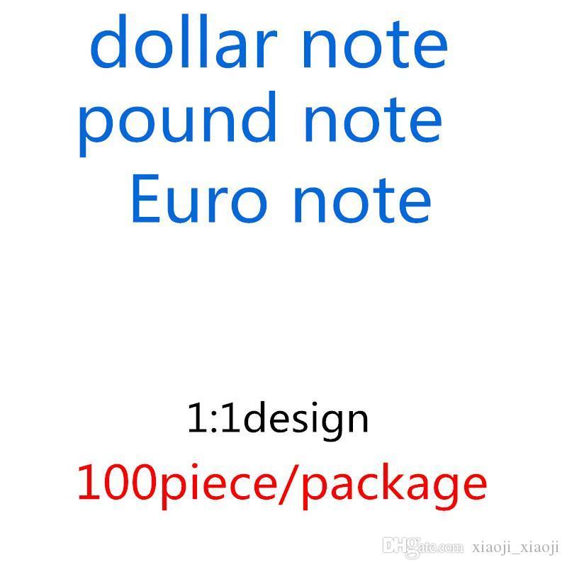 Ferramenta Billet Euro Atmosfera 20 Dinheiro UK US Libra 02 Dólar 10 Aprendendo 50 Bar Put Fake Money Kids Melhor Faux Toys Copy PDVPW