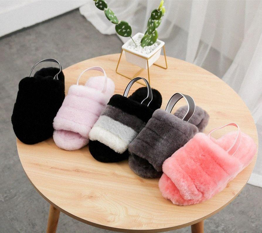 2021 Puffer Australian Boots Womens Designer Slipper Furry Fluff 예 슬라이드 Pantoufles 모피 샌들 35-42 C9SK #