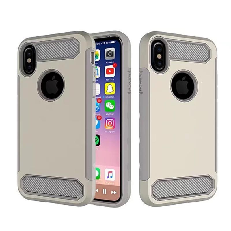 Telefone LV5 Hybrid LG Case Armor K20 Plus para Sam Sung GA Laxy Nota 8 Fibra de Carbono TPU + PC Cobertura traseira B