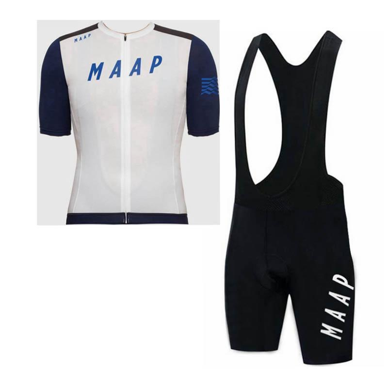 MAAP team Men Cycling Jersey Bib shorts Sets bicycle clothing Ropa Ciclismo MTB Comfortable Breathable sportwear G62004