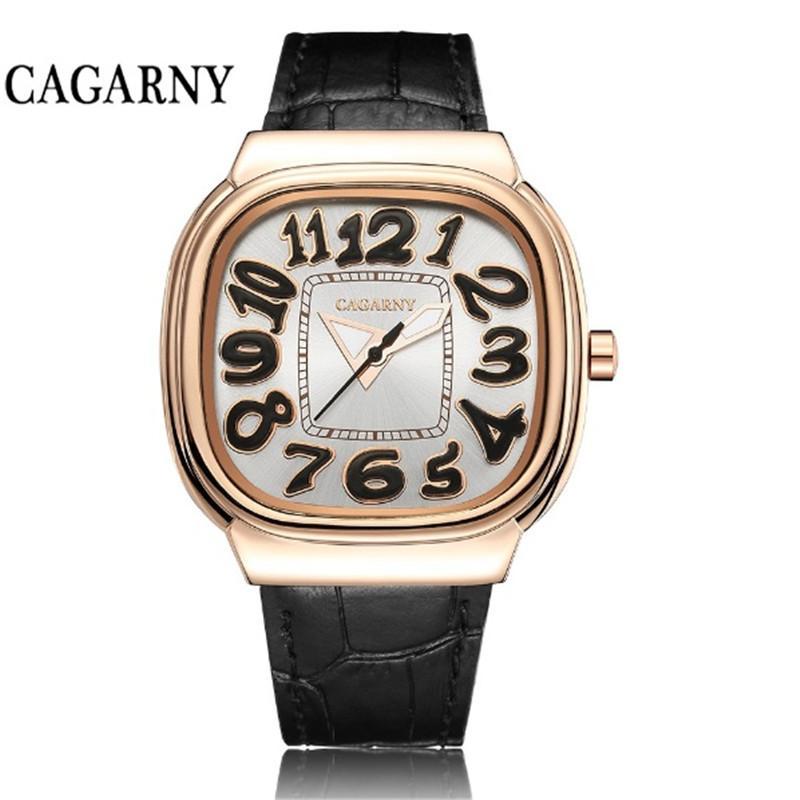 Cagarny الكوارتز مشاهدة النساء بيع مثل الكعك الساخنة خمر السيدات حزام جلد الساعات relogio feminino ساعة اليد امرأة هدية