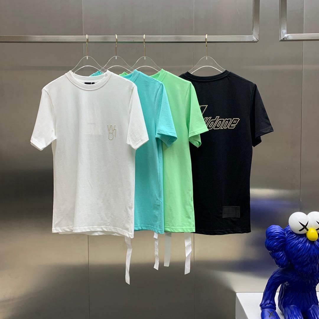 2020 Erkek Tasarımcı T Shirt Siyah Beyaz Kırmızı Erkek Moda Tasarımcısı T Shirtop Kısa Kollu Yüksek Kalite S-XXL183