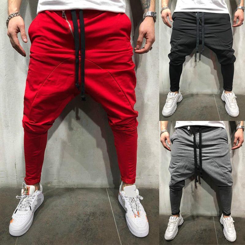 Spring Automne Hommes Pantalon Hip Hop Harem Joggers Pantalon 2020 Nouveau pantalon masculin Santé skinny massif Santé