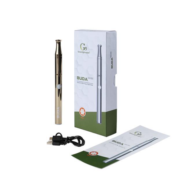 Original G9 Buda Kit Caneta de cera 350mAh Vaporizador Vaporizador Vape Vape Battery 1.3ohm Atomizador cerâmico