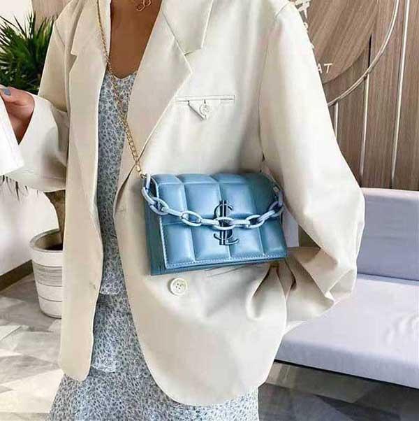 HBP New Qualidade de Alta Qualidade Moda Bolsa De Ombro Clássico Couro Plástico Chain 656255