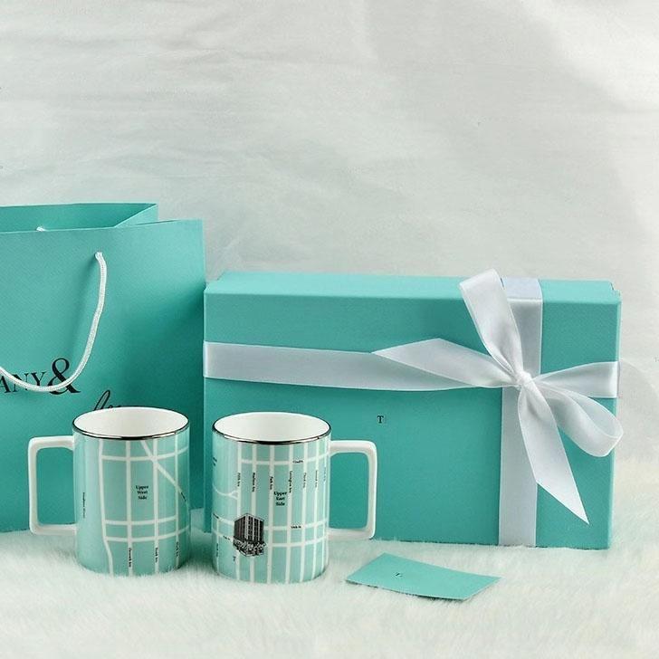 Nuevos diseñadores de lujos de cerámica Copa de cerámica Personalidad Leche Lemon Musical Instrumento de instrumento con forma de mango Taza Café Taza de té Taza de fabricación Suministros