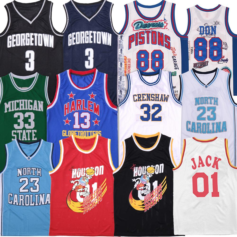 Rapper Jersey 88 Don Georgetown Travis Scott 01 Jack North Carolina Bölgesi Harlem Michigan State Villanova Formaları