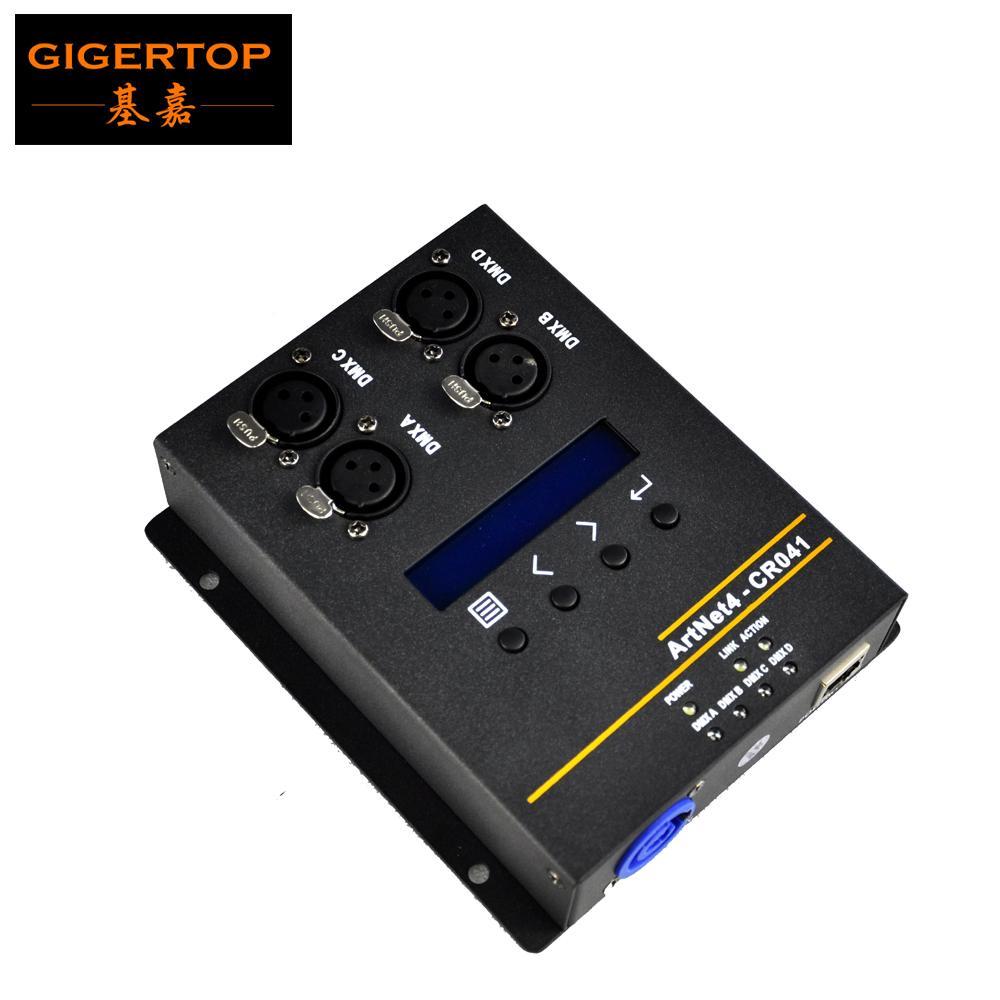 Gigertop 4 Way 출력 Artnet 컨트롤러 박스 전원 Con 인터넷 소켓 RJ45 DMX Standard Connect Art-Net-DMX512 네트워크 변환기