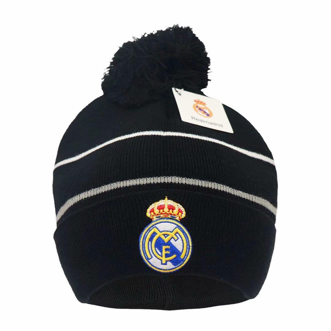 Nuevo otoño invierno fanáticos de fútbol gorras de fútbol regalo del sombrero para el verdadero Madrid Messi Manchester Cap de entrenamiento deportivo Gorros de fútbol Gorros de fútbol
