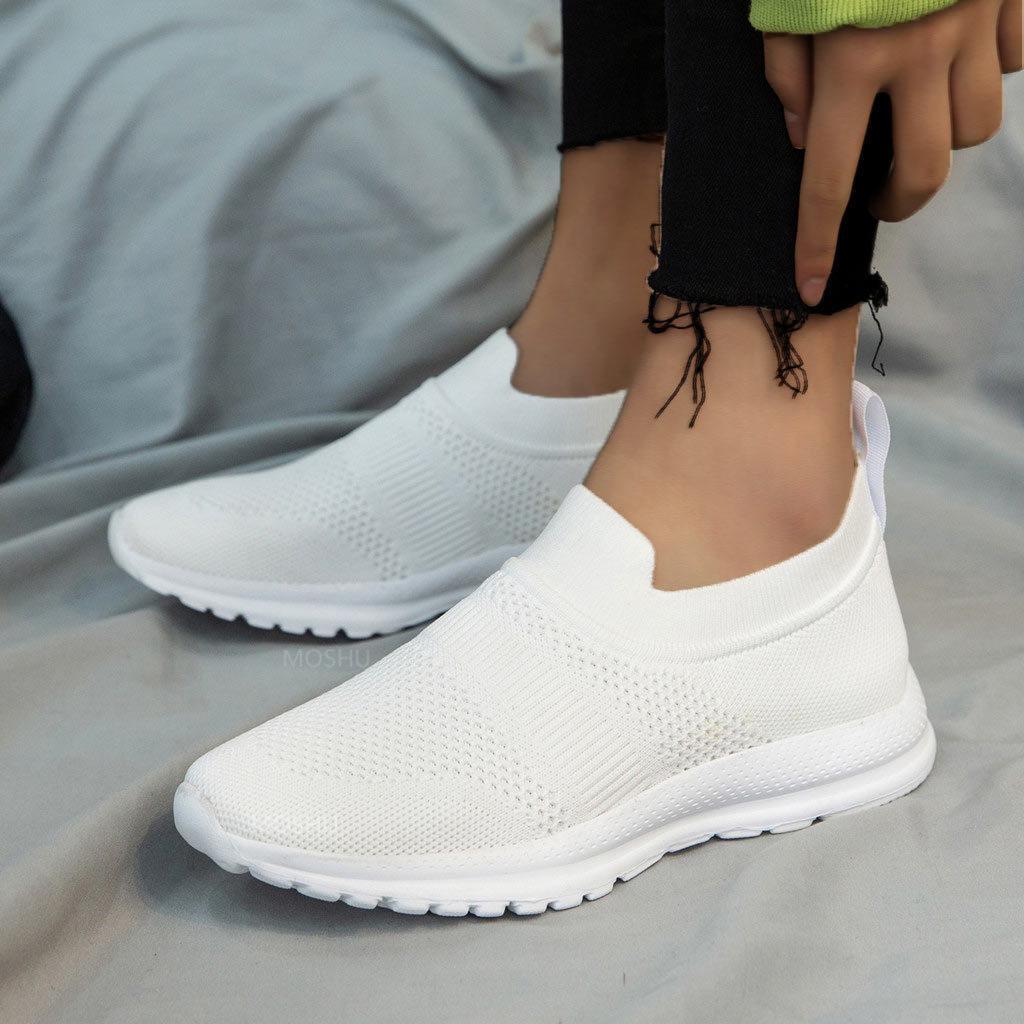 امرأة بيضاء vulcanize المرأة الصيف الشريحة إلى السيدات جورب تشكيل الأحذية عارضة zapatillas موهير