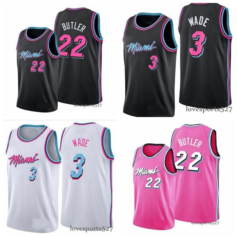 MiamiCalorJersey 3 DwayneWade Jersey 22 JimmyButler 14 TylerHerro Blue Pick CityVicioJersey de baloncesto 1207