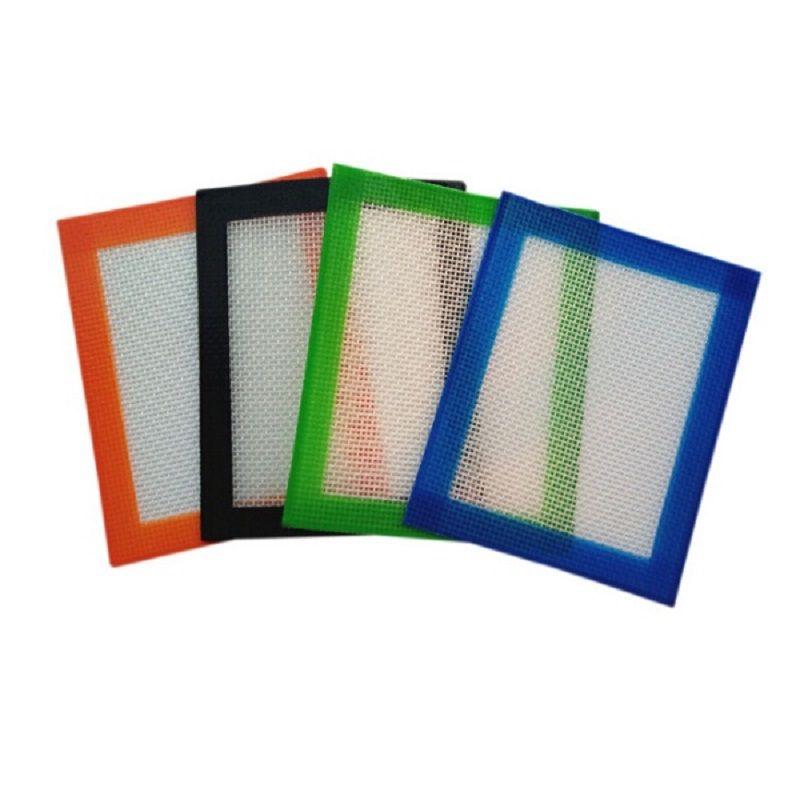 102x127mm cera in silicone tampone opp sacchetto del pacchetto siliconi tappetini tappetini tappetini contenente strumento oro dabber per asciugare erba 4 colori