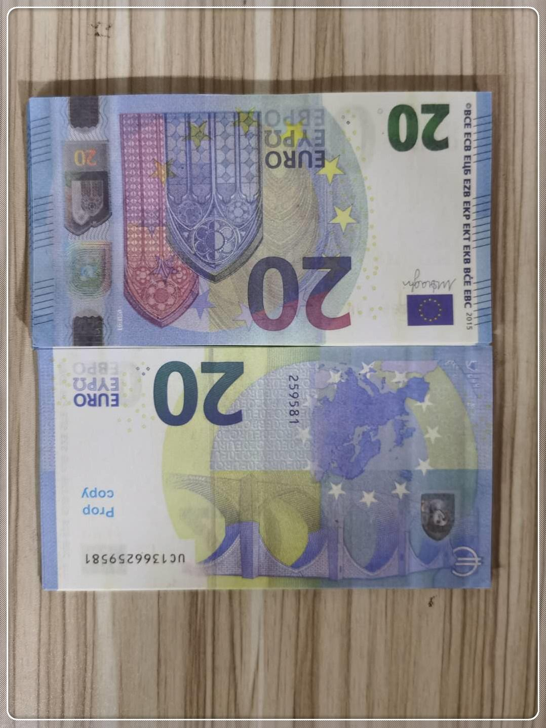 Requisite-Requisiten Faux 2021 Währungsbanknote Le20-37 Euro Heiß Realistische QFJUF Kinderticket Geschenk Spielzeug 20 Kopie Billet Bar Poqfc