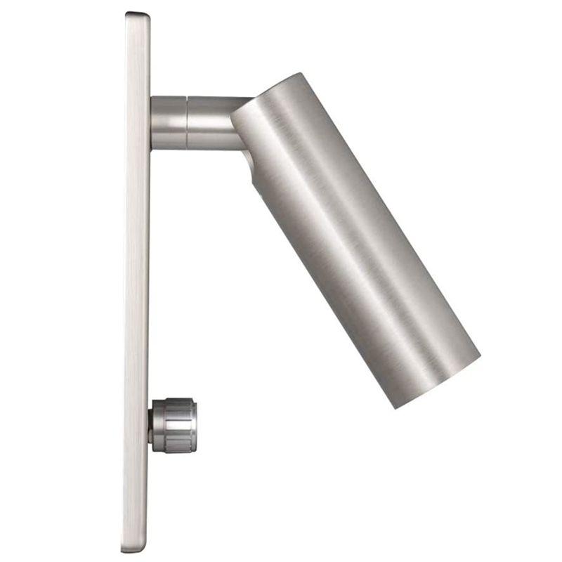 Topoch Işık Duvar Gömme Başlık Okuma Lambası ile Büküm Anahtarı Kısılabilir Yönlü Spot Fırçalı Nikel Osram LED 4.5W