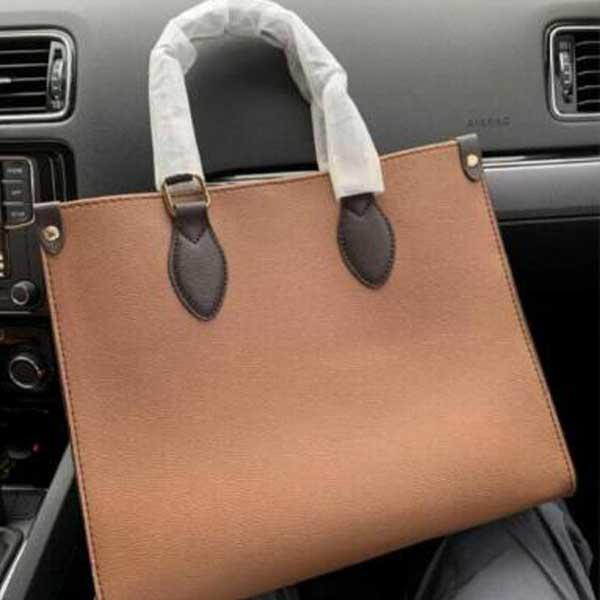 Onthego MM GM Çanta Luxurys Tasarımcılar Çanta Çanta M45321 Yüksek Kaliteli Bayanlar Zincir Omuz Patent Deri Elmas Luxurys Akşam Çanta Çapraz Vücut Çanta