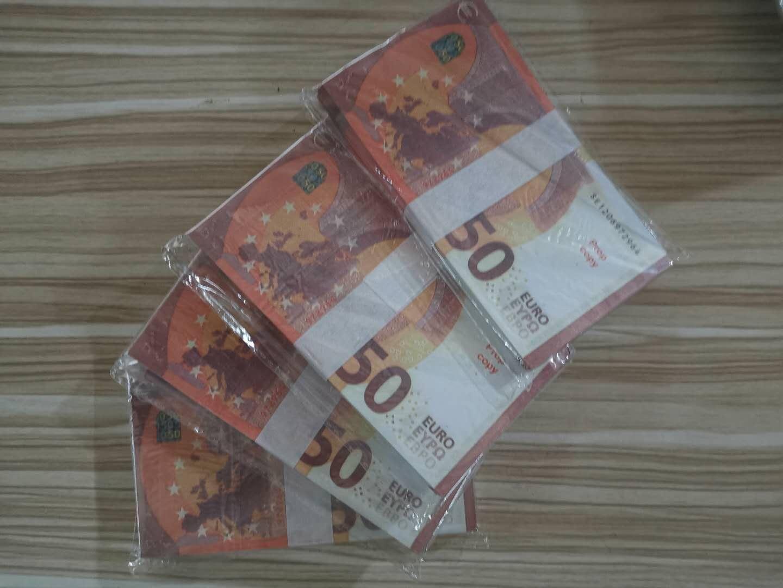 Movie Hot Party Stade Stage Atmosphère Pistolet Atmosphère EURO Billet de banque Faux Bar 50 Collection Mapudu BankNote Money Prop L0129-7 Play Hnntx
