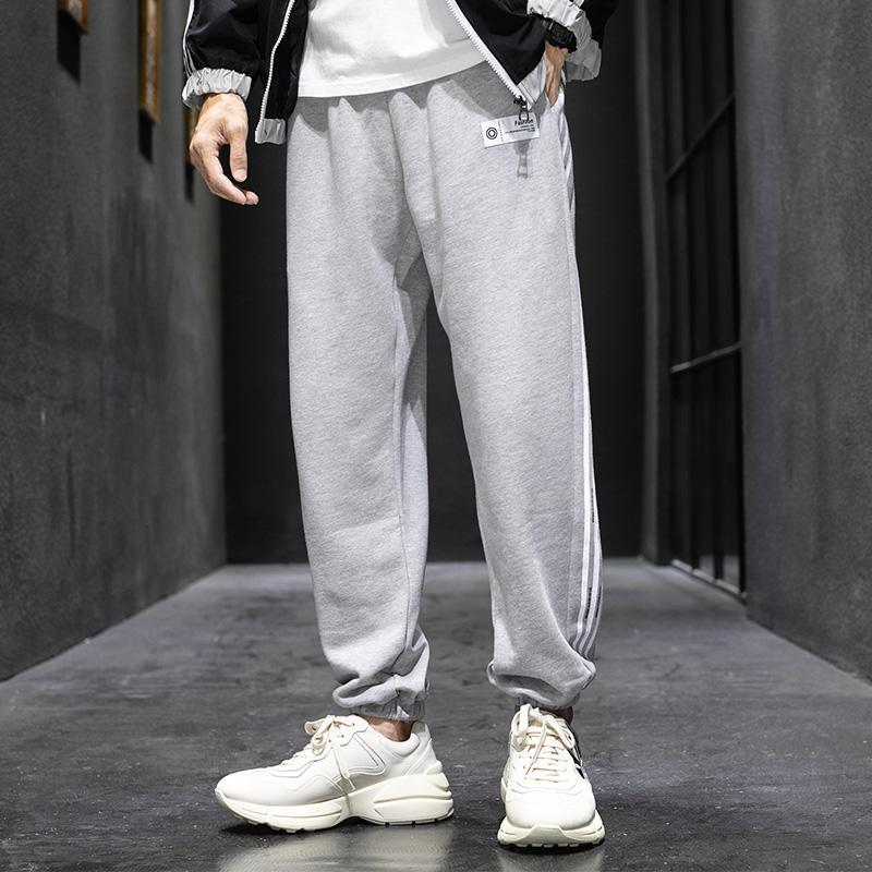 Pantalon de jambe large de la marque de marée, de nouveaux fonds, des motifs de couture à chaud à chaud de haute qualité, des pantalons de jeunes à la mode de la mode