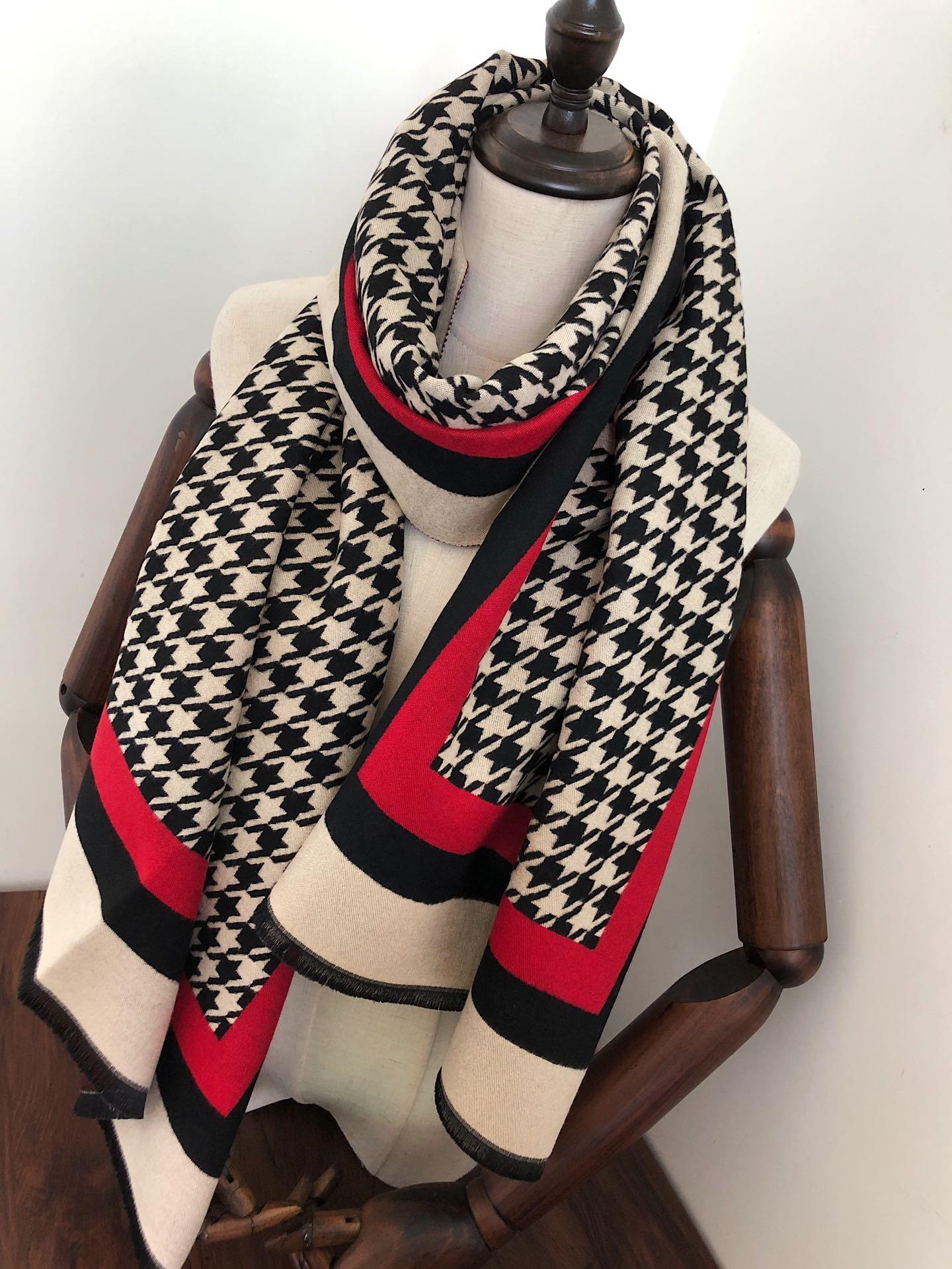 Los diseñadores de nuevas bufandas de otoño e invierno diseñaron bufandas de cachemira de bufandas de chal de alta calidad, suaves, cálidas y multifuncionales