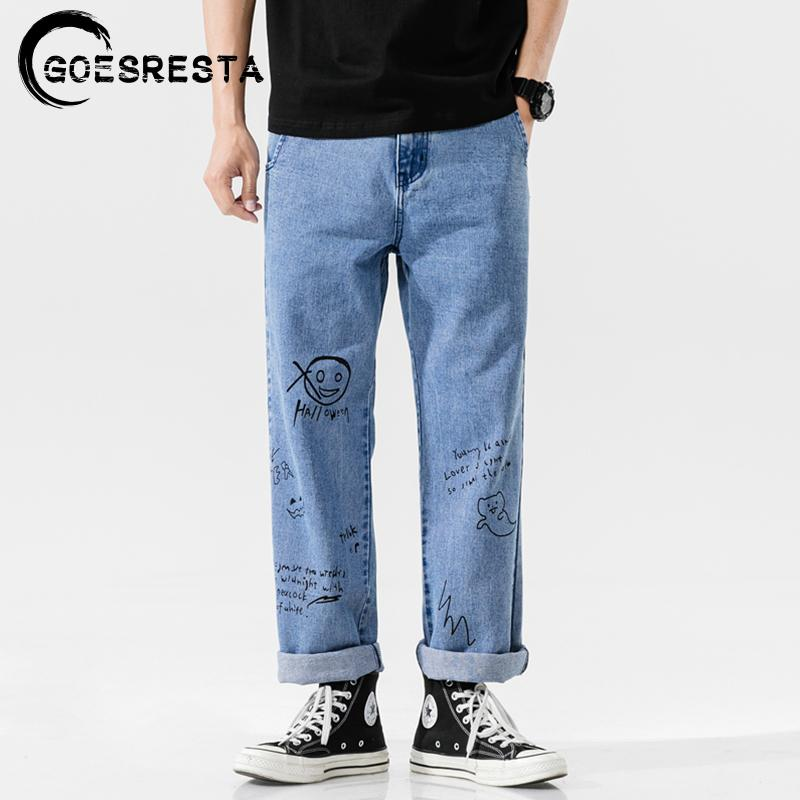 Goessta Coreano Fashoins jeans pantalones Hombres 2020 Pantalones rectos vintage Hip Hop Streetwear Harem Pants Harajuku Hombres holgados Jeans 1120