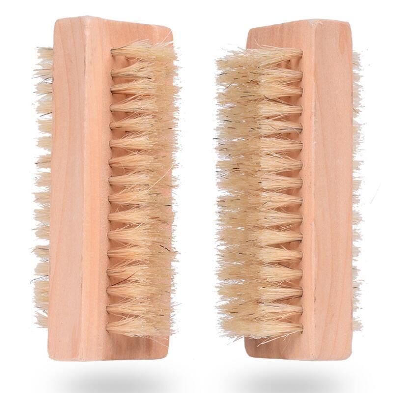 Натуральная кабана щетина щетина деревянная кисточка для ногтей ног чистая кисть массаж тела скруббер макияж инструменты EWF3331