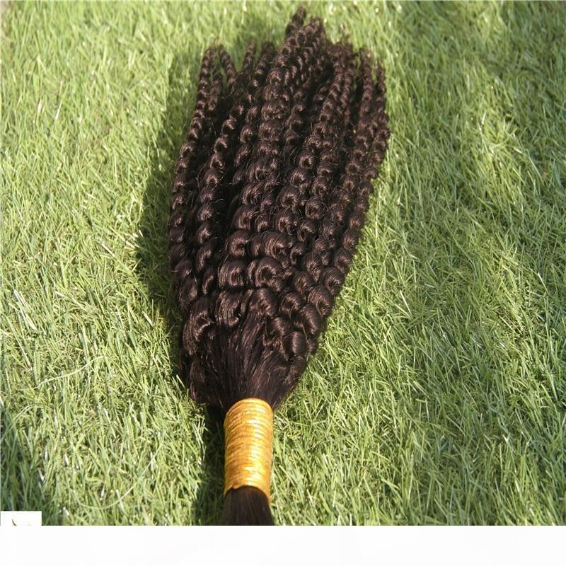 10-30 inç Kıvırcık Dalga Saç Toplu 100% İnsan Örgü Saç Toplu 6A Işlenmemiş Atkı Saç Uzantıları