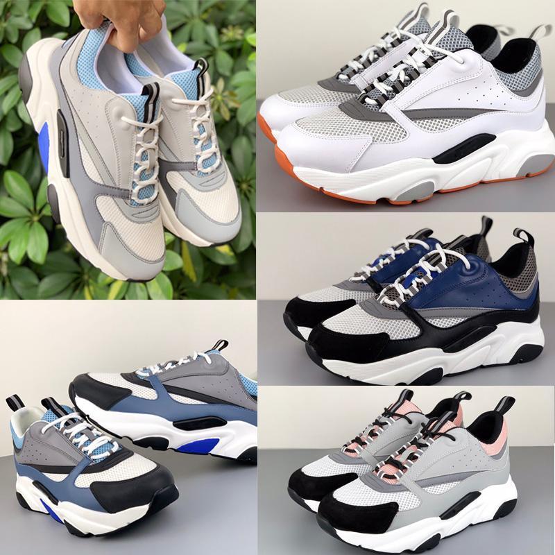 Uomo Tecnico Knit Capalskin Trainer Platform Shoes Brand Women Designer Sneakers Luxury Fashion B22 Scarpe da ginnastica Riflettente Coppia Scarpe casual