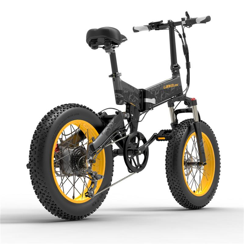 LANKELEISI X3000PLUS Powerful Electric Bike Foldable Electric Bicycles 1000W 48V 46KM/H Fat Tire Adult Electric Bicycle EU Stock