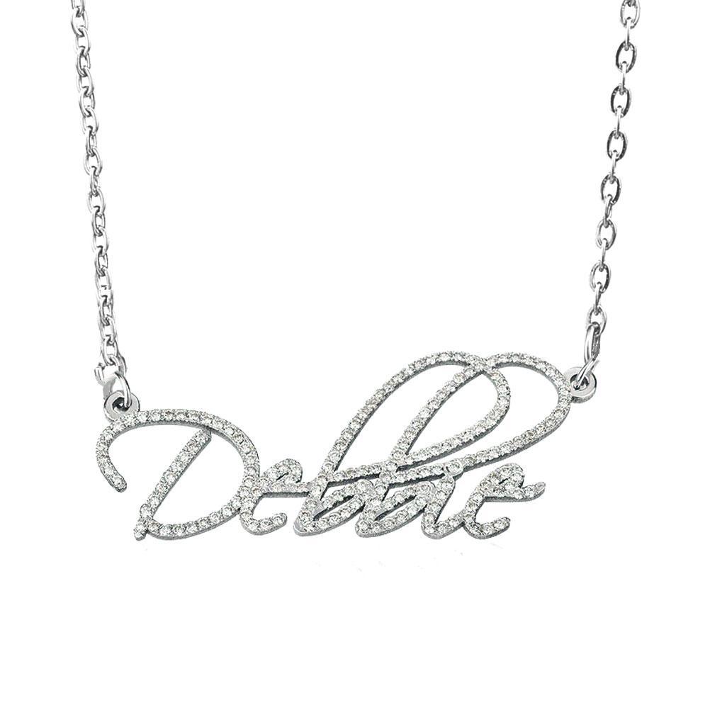 Personalisierte benutzerdefinierte name halskette funkelnde kristall shoker für frauen mädchen edelstahl 925 sterling silber familie mutter schmuck geschenk