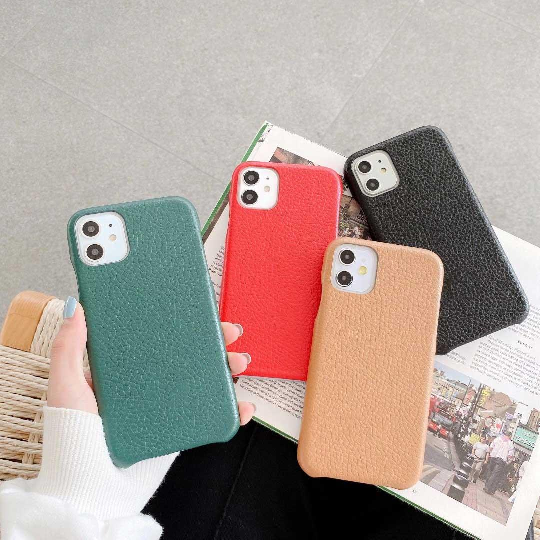 Diseñadores iPhone 12Pro Max Elegant Funda de cuero para 11pro MAX 12 11 XR XS 7 / 8P Moda impresa Caja de teléfono de alta calidad de 4 colores disponible