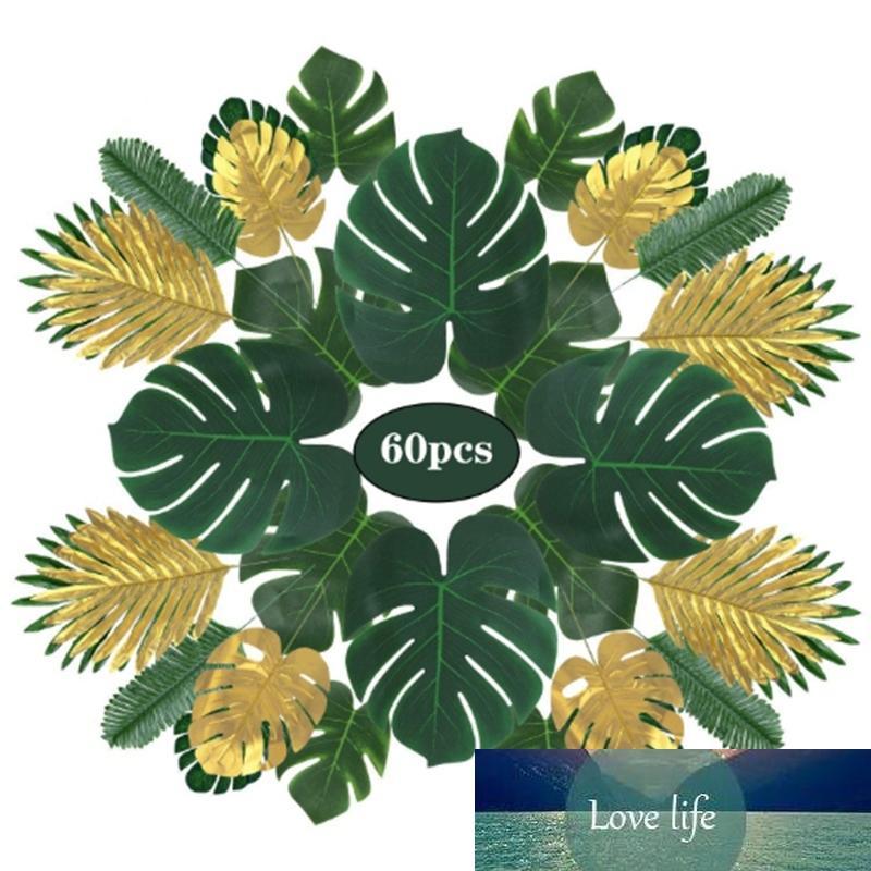 Doğum günü temalı partiler, düğünler, parti süslemeleri için yapay tropikal palmiye yaprağı yaprağı bitkileri çeşitleri