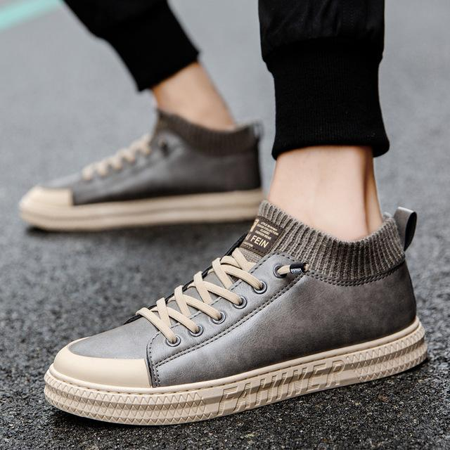 2021 Scarpe da uomo Moda Scarpe per il tempo libero Scarpe antiscivolo Gomma Soft Bottom Ventilazione alta Top piatto casual scarpe quattro stagioni Sport SG9889