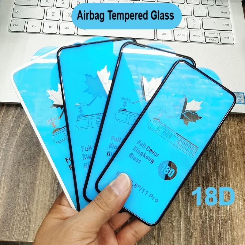 18D 3D изогнутые кромки закаленные стекла для iPhone 12 Mini 11 Pro Max XR X XS MAX 8 7 6s Plus Plus Protector