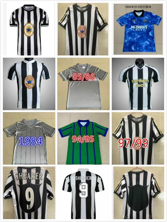 Néwastle 95 96 97 98 99 05 06 Shearer Retro Soccer Jersey Hamann Shearer Pinas 1984 1995 1997 99 05 06 Chemises de football classique United Owen
