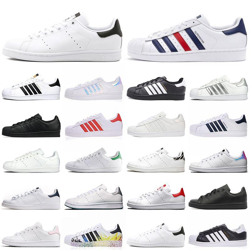 stan smith superstars superstar smith tasarımcı sneakers erkek kadın Chaussures üçlü siyah beyaz zebra moda erkek eğitmen spor rahat ayakkabılar
