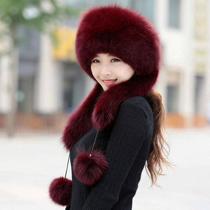 Cappello invernale per le donne Lei Feng imitazione pelliccia pelliccia cappello di pelliccia cupola spessa calda calda nevicata russa