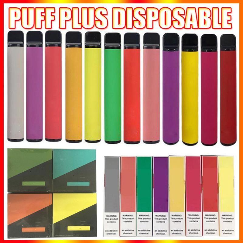 Puff Plus Disposable Vape Pen E-cigarettes With Security Code 550mAh Battery 3.2ml Pods Pre-Filled Empty Vapor 800 Puffs