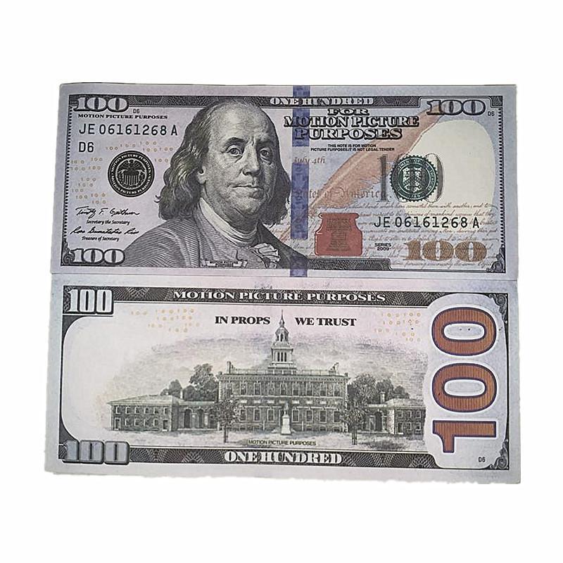 100 Paper Money Bar Puntelli Film Shooting Puntelli 1: 1 Design Simulation Soldi Puntelli Giocattoli Giocattoli Bambini Regali Consegna veloce 4b